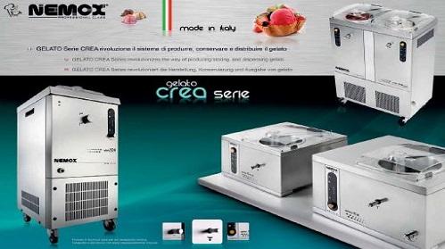 Nuova serie CREA macchine da gelato Nemox