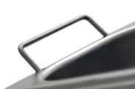 Contenitori con maniglie GN 2/4 530x162 mm Inox