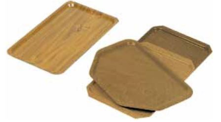 Laminated melamine trays