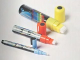 Liquid chalk markers for shaped boards