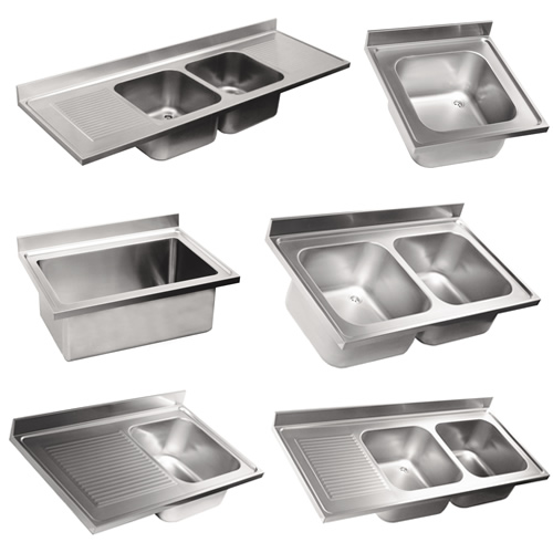 Top professional sinks in stainless steel Depth 70
