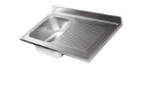 Top sink with 1 bowl with drainer