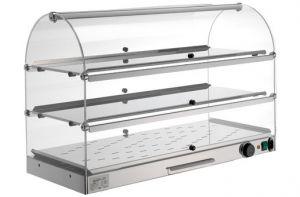 VET7035 - heated display cabinet - 3 floors, dim. 80X35X54