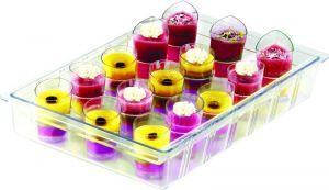 ITP801 Mini soporte de vidrio de policarbonato para vasos para vitrinas de helados...