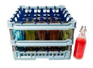 GEN-100142 Cesta speciale con convogliatori acqua per il lavaggio di 25 bottiglie