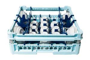 GEN-100160 Cesta especial para lavar 17 tazas y platillos de café