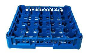 PANIER GEN-K15x5 CLASSIQUE 25 COMPARTIMENTS CARRÉS - Hauteur verre 65mm