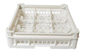 CESTA CUADRADA CLÁSICA GEN-K23x3 9 COMPARTIMIENTOS CUADRADOS - Altura de vidrio de 65 mm a 120 mm