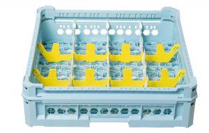 CESTA CLÁSICA GEN-K23x4 12 COMPARTIMIENTOS RECTANGULARES - ALTURA DE VIDRIO de 65 mm a 120 mm