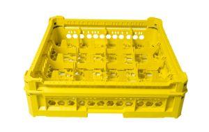 CESTA CLÁSICA GEN-K24x4 16 COMPARTIMIENTOS CUADRADOS - Altura del vaso de 65 mm a 120 mm