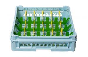 GEN-K24x6 CESTA CLASSICA 24 SCOMPARTI RETTANGOLARI - Altezza bicchiere da 65mm a 120mm