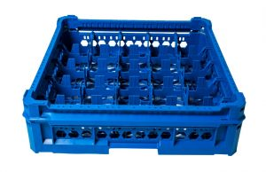 GEN-K25x5 CLASSIC BASKET 25 SQUARE COMPARTMENTS - Glass height from 65mm to 120mm