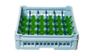 GEN-K25x6 PANIER CLASSIQUE 30 COMPARTIMENTS RECTANGULAIRES - Hauteur du verre de 65 mm à 120 mm