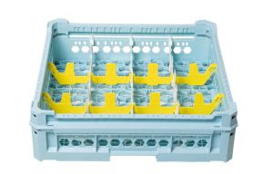 GEN-K33x4 PANIER CLASSIQUE 12 COMPARTIMENTS RECTANGULAIRES - HAUTEUR EN VERRE de 120 mm à 240 mm