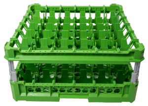 GEN-K36x6 CLASSIC BASKET 36 SQUARE COMPARTMENTS - Cup height from 120mm to 240mm