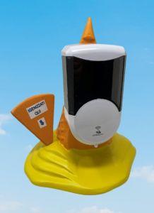 EG-IGI2 Cono de helado invertido con dispensador electrónico automático de jabón líquido insertado
