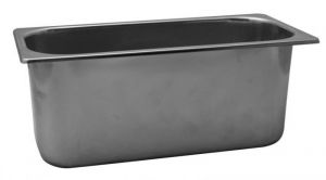 VG422020 Ice cream tray in stainless steel 420x200x h200 mm