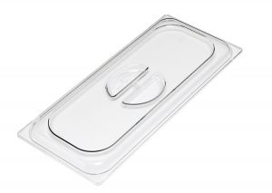VGCV03 Polycarbonate lid for ice cream pan 330x165 mm