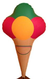 GOTX001 Inflatable Ice Cream Cone 125 cm