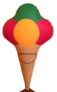 GOTX001 Cornet de crème glacée gonflable 140 cm