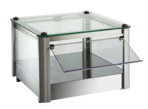 Mueble de mostrador de encimera neutral 1 PISO en chapa de acero inoxidable Dimensiones Cm L37xP37x24 H Modelo VKB31N