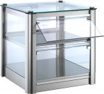 Neutral countertop display cabinet 2 TOPS in stainless steel sheet Dimensions Cm L37xP37x39 H Model VKB32N