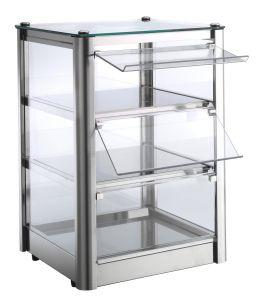 VKB33N Neutral countertop display cabinet 3 SHELVES in stainless steel sheet