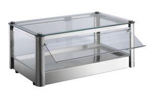 Neutral countertop display cabinet 1 PLAN in stainless steel sheet Dimensions Cm L57xD37x24 H Model VKB51N
