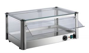 VKB51R 1-deck hot counter display cabinet in stainless steel sheet
