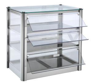 Mueble vitrina neutral 3 ESTANTERÍAS en chapa de acero inoxidable Dimensiones Cm L57xP37x54 H Modelo VKB53N