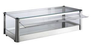 Neutral countertop display cabinet 1 FLOOR in stainless steel sheet Dimensions Cm L87xP37x24 H Model VKB81N