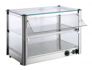 Counter display cabinet Hot 2 FLOORS made of stainless steel sheet Power 800 W Dimensions Cm 87xP37x39 H Model VKB82R