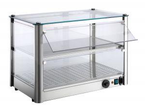 Mostrador de mostrador Caliente 2 PISOS de chapa de acero inoxidable Potencia 800 W Dimensiones Cm 87xP37x39 H Modelo VK
