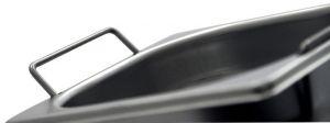 GST1/1P065M Contenitore Gastronorm 1/1 h65 con maniglie in acciaio inox AISI 304