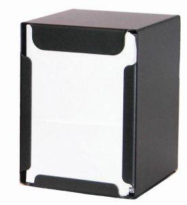 ITP1315N Portatovaglioli da tavolo e banco NERO- tovaglioli piegati 17x17 cm