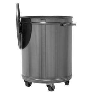 MC1002 dustbin trolley round steel 75-liter PROMOTION -