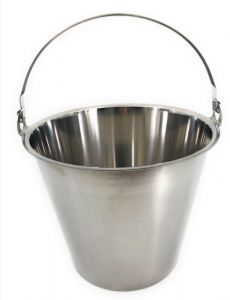 SE-G12 12 liters graduated stainless steel bucket