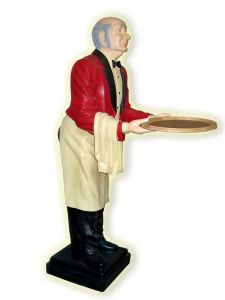 ER001 Figura de camerero de resina altura 195h cm