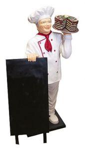 ER005A Chef avec gâteau en trois dimensions 140 hauteur