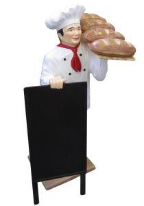 ER005B Chef avec pain en trois dimensions 140 hauteur