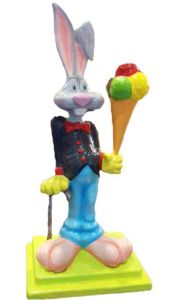 SG085 Rabbit with ice-cream - 3D advertising rabbit for ice-cream parlor, height 170 cm