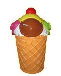 SG089 Garbage ice-cream - Poubelle publicitaire en 3D pour glacier, hauteur 135 cm