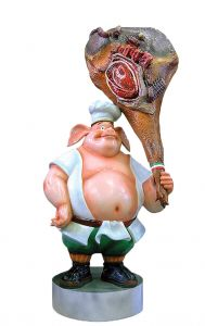 SR004 Ham with pork - 3D advertising ham for gastronomy, height 205 cm