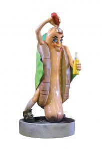 SR009 Hot dog - 3D advertising hot dog for gastronomy height 185 cm
