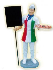 SR022 Pizzaiolo tridimensionale in vetroresina con lavagna alto 175 cm